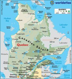 Map Of Canada And Montreal
