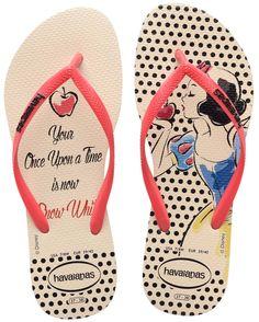 1dbc91739 Chinelos Havaianas e tênis Vans das princesas Disney