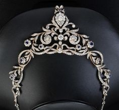 A Diamond and Sapphire Necklace with associated tiara adaptor