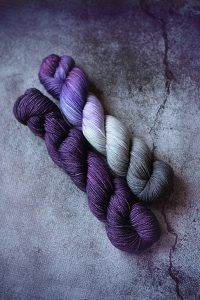 Amethyst Geode + Arabian Nights | Yarn Love This color pairing is just swoon-worthy