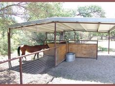 Horse enthusiasts dream ranch in Parkfield, CA - pasture shelter Horse Paddock, Horse Stables, Horse Farms, Horse Tack, Dream Stables, Horse Shed, Horse Barn Plans, Horse Pens, Barn Stalls