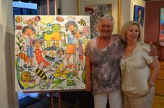 Lucette with Margaret Director of Red Hill Gallery.