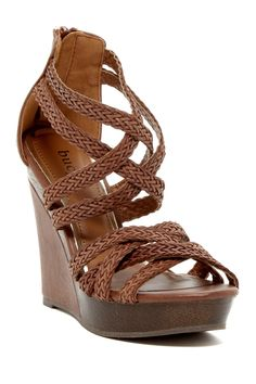 Monaly Strappy Wedge Sandal by Bucco on @nordstrom_rack
