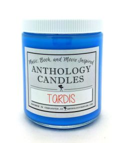 Music, book, and movie inspired candles from Anthology Candles