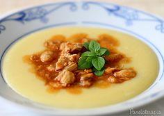 PANELATERAPIA - Blog de Culinária, Gastronomia e Receitas: Polenta Cremosa com Molho de Frango