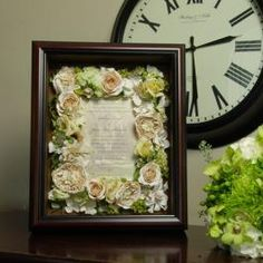 Flowers surrounding the invitation .. snuggled up nice & cozy!