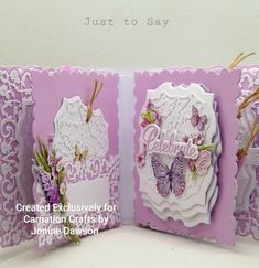 Created using the 'Just to say' collection by Carnation Crafts New Crafts, Memory Books, Carnations, Memories, Sayings, Create, Cards, Inspiration, Collection
