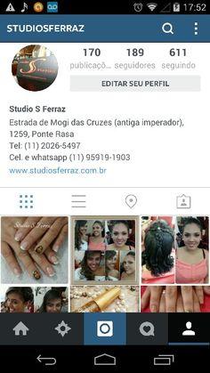 O Studio S Ferraz tb está no Instagram! Sigam e fiquem por dentro das novidades!