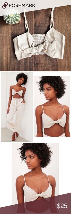 NWT Urban Outfitters Knot Crop Top Kimchi Blue • New with tags • Size M Urban Outfitters Tops