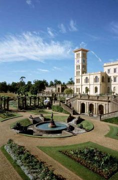 Osborne House & Gardens in East Cowes, Isle of Wight, Hampshire, England. Queen Victoria and Prince Albert's Island home.