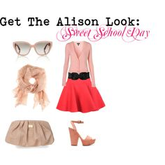 Pretty Little Liars' Alison DiLaurentis Sweet School Day outfit