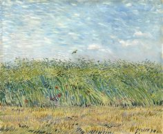 The Athenaeum - Wheatfield with Partridge (Vincent van Gogh - )