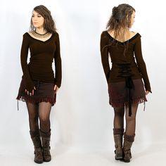 "TOP PULL YGGDRAZIL ""EO-LÜNE"" •• Pixie Fairy Tribal Boho Bohemian Look ❃ (34€)"