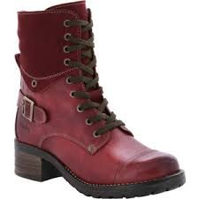 Image result for combat boots red
