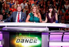 Judges Nigel Lythgoe, Mary Murphy and guest judge Zooey Deschanel on SO YOU THINK YOU CAN DANCE.