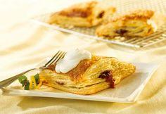 Sparkling Raspberry Turnovers with Lemon Crème Fraîche - Campbell's Kitchen