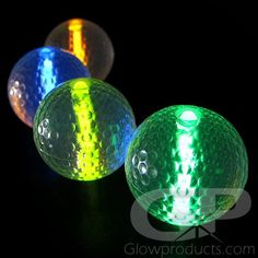 Glow Golf Balls with Glow Insert Light Up Clothes, Golf Flag, Foil Packaging, Led Costume, Miniature Golf, Golf Putting, Glow Sticks, Balloon Decorations, Green Colors