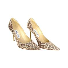 JIMMY CHOO Metallic Leopard Print Anouk Pumps sz 37 | From a collection of rare vintage shoes at https://www.1stdibs.com/fashion/clothing/shoes/