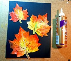 that artist woman: Painted Autumn Leaves