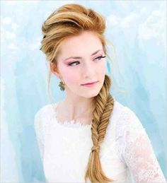 Love this flawless fishtail braid! Image: Salon K via Wedding Chicks