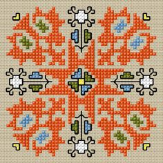 BULGARIAN EMBROIDERY- Cross stitch pattern PDF format on Etsy, $2.20