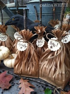 if the broom fits… witch's broom treat bags -- wonder if I will remember this when Halloween time rolls around again.