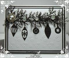 Downrightcrafty: Row of Baubles Christmas Card
