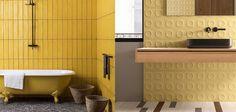Paleta de Colores para este Año 2021 - Hazlo con Cerámicos Jaipur, Clawfoot Bathtub, Green And Gray, Yellow Accents, Color Of The Year, Color Palettes