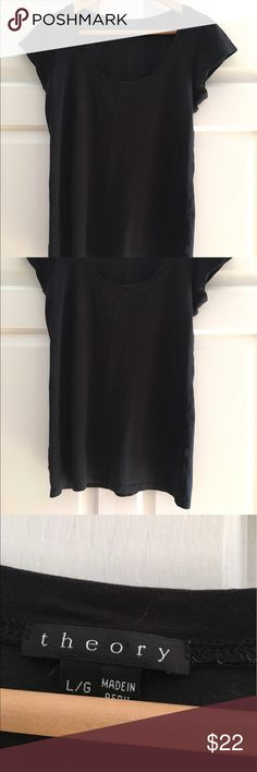 Theory Tee Classic little black Theory tee. 92% cotton 8% spandex. Soft stretch for a superior fit and feel. Wash in cold water. Perfect condition. Theory Tops