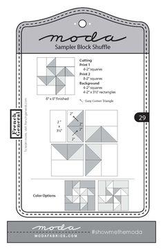 Moda Sampler Block Shuffle - Block #29 by French General. …