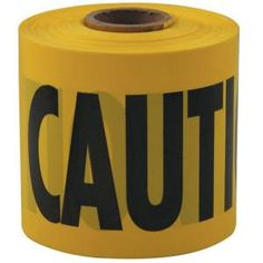 HDX 3 in. x 200 ft. Caution Tape in Yellow-71-0201HD at The Home Depot