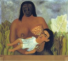 Frida Kahlo: Self-Portrait, My nurse and I (1937) | Flickr - Photo Sharing!