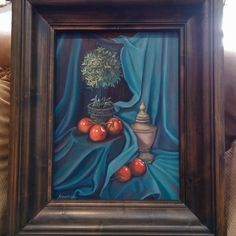 Title: Tomatoes and Topiaries, oil on panel By Susan Grove Topiaries, Tomatoes, Art Work, Oil, Fine Art, Painting, Artwork, Work Of Art, Topiary
