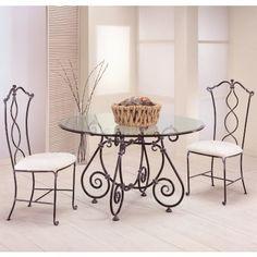 Mesa Redonda de Forja Eunice #Ambar #Muebles #Deco #Interiorismo   http://www.ambar-muebles.com/mesa-redonda-de-forja-eunice.html