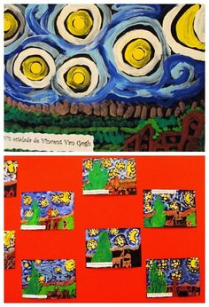 A variety of art projects based on Van Gogh's Starry Night. Includes a really cool video.