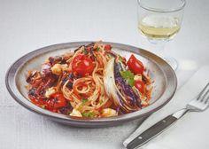 Dinkel-Spaghetti mit Radicchio