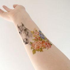horse tattoo flower - Sök på Google