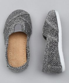 Look what I found on #zulily! Silver Glitter Wrapped Panel Slip-On Shoe #zulilyfinds