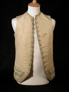 Man's waistcoat  National Trust Inventory Number 1359454 Date1760 - 1770 MaterialsSilk CollectionKillerton, Devon (Accredited Museum)