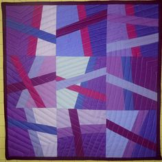 """This is a really beautiful mini """"For the Love Of Solids"""" quilt from Quilt Story."""