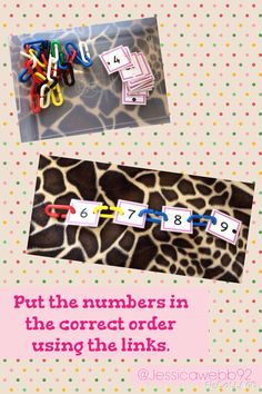 Use the links to put the numbers in the correct order.