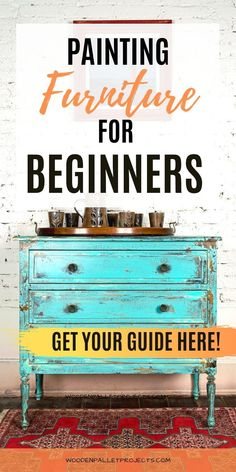 If you're just staring with furniture painting then you need this beginners guide on how to paint furniture. Learn about prepping, painting and finishing furniture as well as troubleshooting and distressing. Distressed Furniture Painting, Chalk Paint Furniture, How To Distress Furniture, Furniture Refinishing, Distressing Painted Furniture, Refinished Furniture, Furniture Repair, Diy Furniture Renovation, Furniture Makeover
