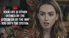 Nomi Marks: Your life is either defined by the system or by the way you defy the system. More on: https://www.magicalquote.com/series/sense8/ #NomiMarks #Sense8 #Sense8Quotes #Sense8Netflix