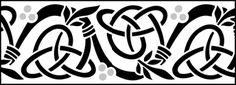 Click to see the actual CE10 - Border No 10 stencil design.