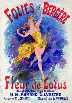 Poster by Jules Chéret for Fleur de Lotus, by Louis Desormes Vintage Advertisements, Vintage Ads, Vintage Prints, Vintage Posters, French Posters, Italian Posters, Art Nouveau Poster, Art Deco Posters, Poster Prints