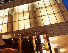 The front entrance to The Trump SoHo New York. Front Entrances, Hotel Deals, 5 Star Hotels, Soho, New York, Usa, Luxury, New York City