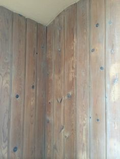 White Pickling Of Knotty Pine Paneling
