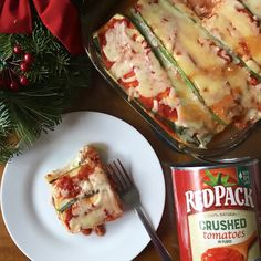 The best gift for the holiday season is a delicious, homemade meal, so I whipped up this zucchini and eggplant lasagna made with @redpacktomatoes Crushed Tomatoes in Purée that's perfect for any holiday gathering. Redpack products are family farmed and, in my opinion, the #BestCannedTomato around!  They make for the perfect base of any  homemade gift or meal for the family! I'll be preparing homemade gifts of veggie lasagne this holiday season, what will you be making? #Sponsored #DIY🍅gift