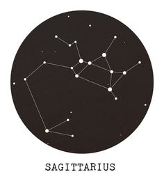 Sagittarius Star Constellation Art Print  ALEXXXX. I also love space so this could be two tattoo ideas in one