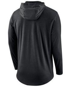 Nike Men's Pittsburgh Steelers Blend Hooded Long Sleeve T-Shirt - Black XL